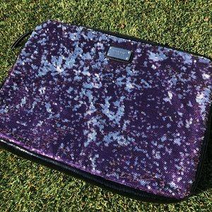 Nine West Purple Sequin Laptop Case
